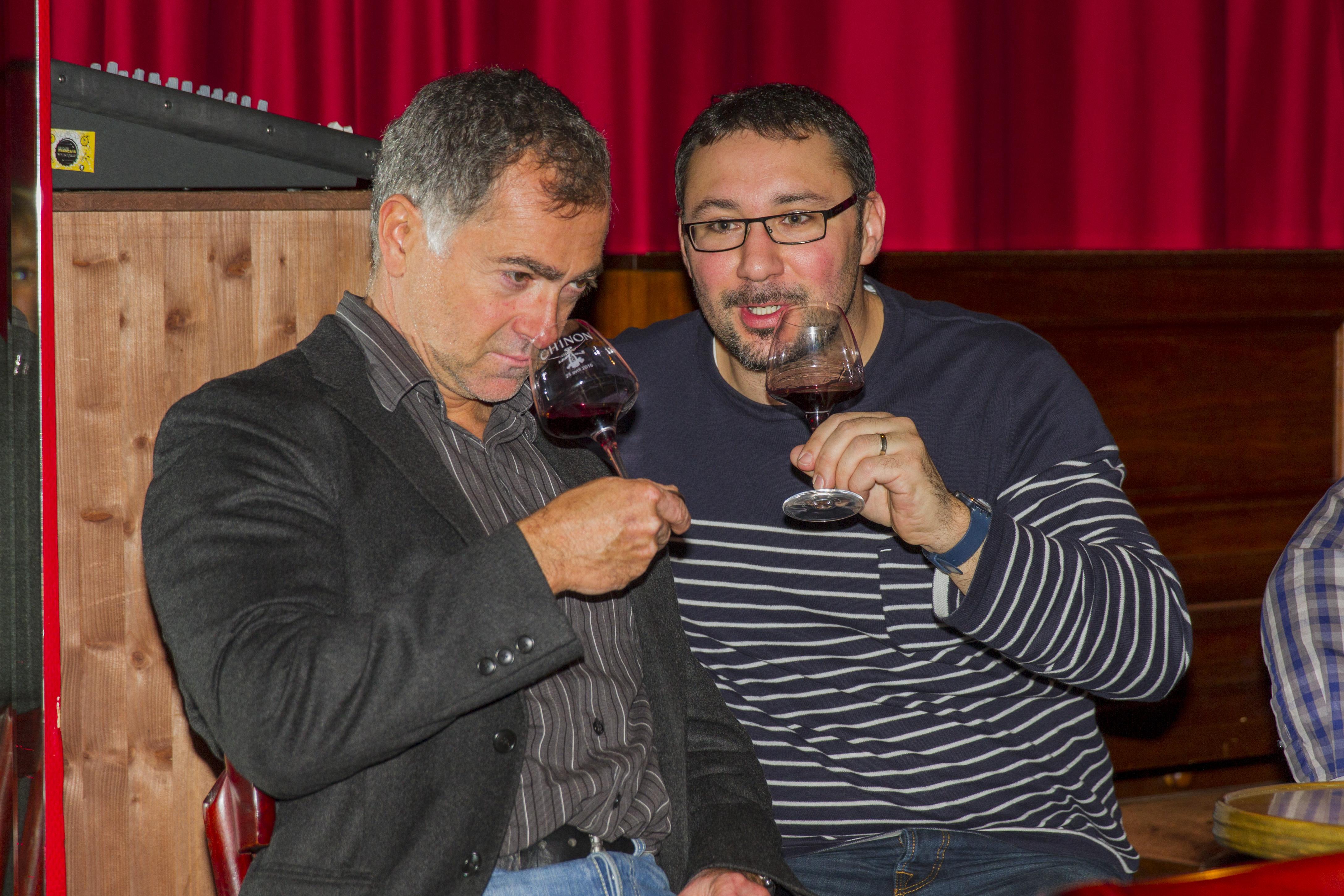 Café Français dégustation vins de Chinon dimanche 8 novembre 2015